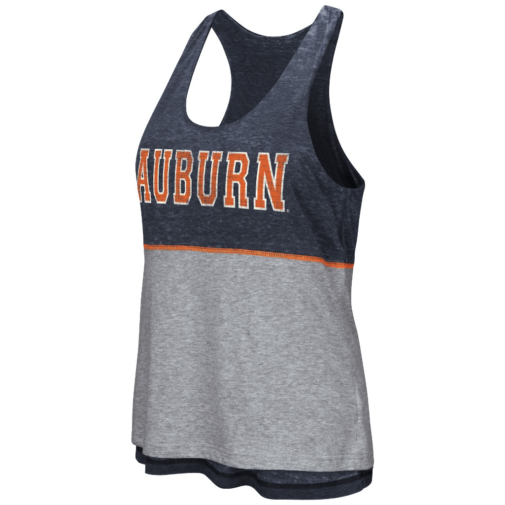 "Auburn Tigers Women's NCAA ""Red Ross"" Reversible Burn Out Tank Top"